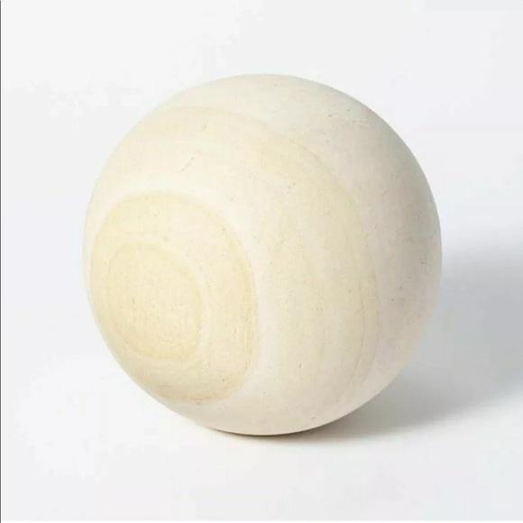 "Studio McGee 6"" Decorative Stone Wood Lime Ball"